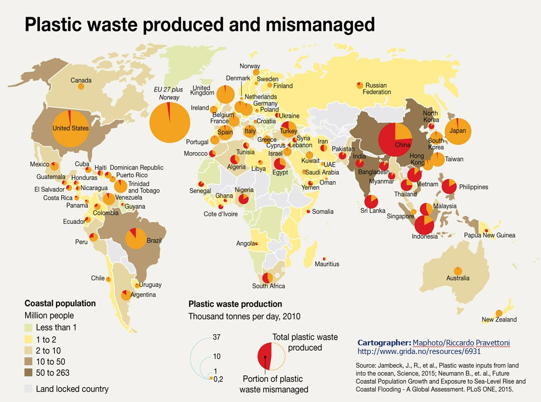 2015 Plastic waste produced and mismanaged
